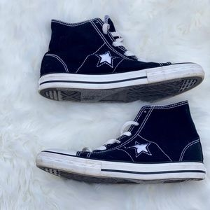 Converse One Star Black Canvas High Top Sneaker